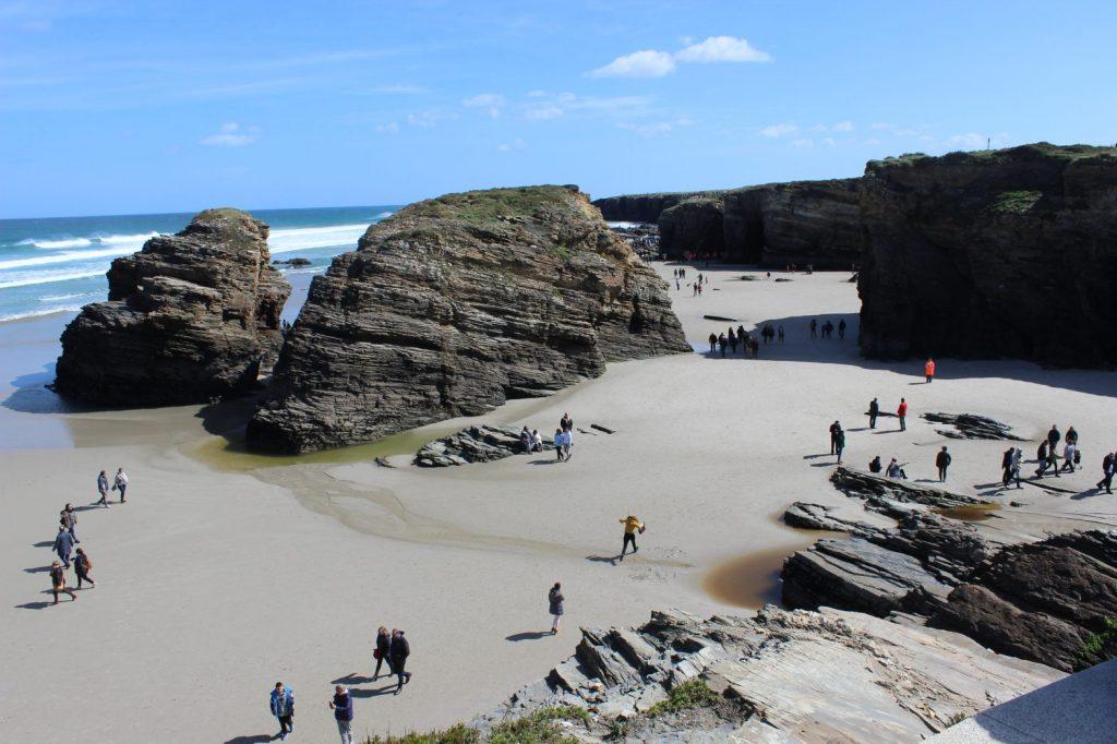 Playa de las Catedrales con marea baja