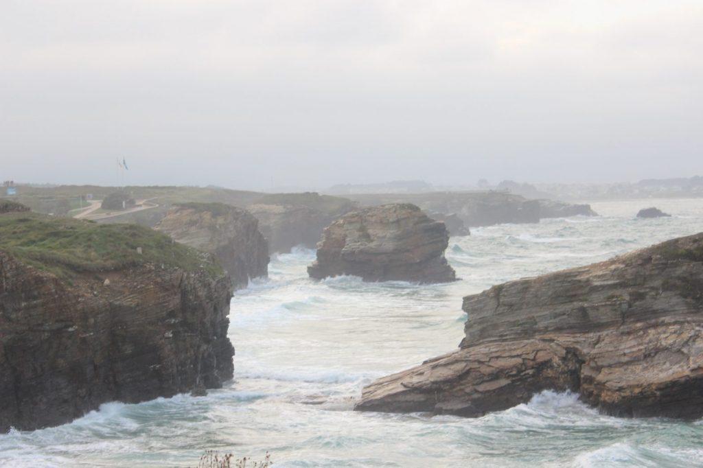 Vista general Marea alta Playa de Las Catedrales