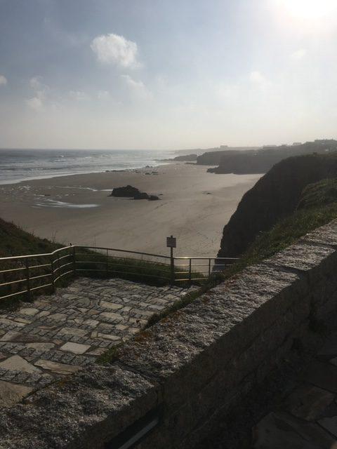 Playa de Fontela desde el paseo.